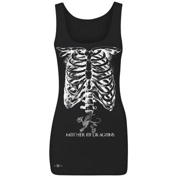 Zexpa Apparel™ Mother Of Dragons X-Ray Rib Cage Women's Tank Top Pregnant Halloween Costume Got Throny Sleeveless