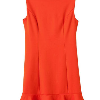 Women's Fashion Backless Sexy Sleeveless Vest Dress Ruffle One Piece Dress [4917828036]