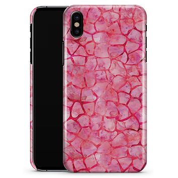 Pink Watercolor Giraffe Pattern - iPhone X Clipit Case