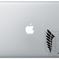 Wings Of Freedom Recon Corps Macbook Decal Anime Vinyl Sticker Laptop Windows Shingeki No Kyojin ( Attack On Titan)