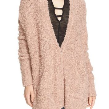 Free People Bouclé V-Neck Cardigan | Nordstrom