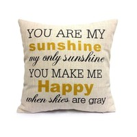 Uphome Decorative Inspirational Quotes Pillow Cover Personalized Custom Cotton L...