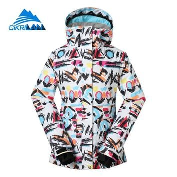 New Womens Winter Waterproof Windproof Skiing Snowboarding Outdoor Jacket Snow Sport Camping Hiking Padded Coat Fishing Clothes