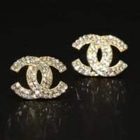 Chanel  Tiffany&Co fashion women's letter fashion feminine earrings