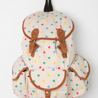 Urban Outfitters - Carrot Tri-Pocket Polka Dot Backpack