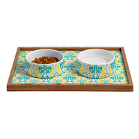 Raven Jumpo Breezy Damask Pet Bowl and Tray