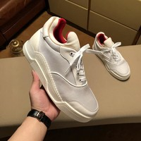 Christian Louboutin Men Fashion Boots  fashionable casual leather  Breathable Sneakers Running Shoes Sneakers