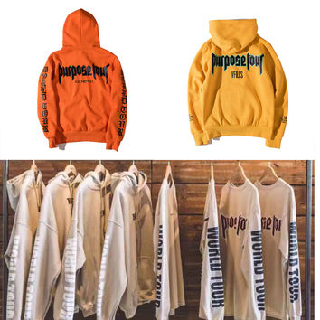 Purpose Tour Justin Bieber Hoodies Men Women Justin Bieber World Tour Hip Hop Fear of God Purpose Tour Justin Bieber Sweatshirts