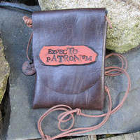 Harry Potter Inspired EXPECTO PETRONUM Hand Bag iPhone 6 Cell Phone bag Wallet Flask Festival Bag Purse Costume and Novelty
