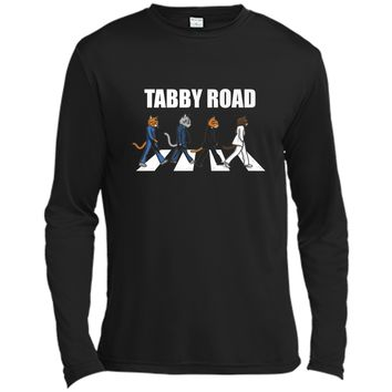 Tabby Road Cats Cool Cat Graphic Tee Long Sleeve Moisture Absorbing Shirt