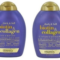 Organix Thick and Full Biotin and Collagen Shampoo & Conditioner Set, 13 Ounce each