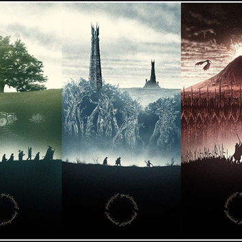Custom Lord of the Rings Poster Home Decoration Fashion Lord of the Rings Wall Sticker Game Wallpaper #0293