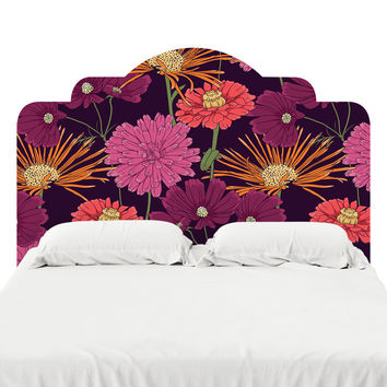 Lavender Flowers Headboard Decal