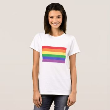 Painted Rainbow Flag T-Shirt