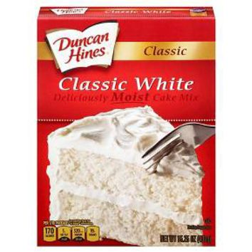 Duncan Hines Classic White Cake Mix 16.5oz : Target