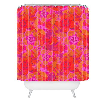 Aimee St Hill Pink Birds Shower Curtain
