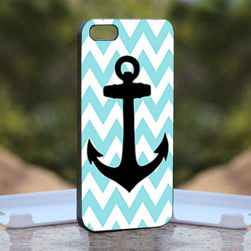 Aqua Blue Anchor - Design available for iPhone 4 / 4S and iPhone 5 Case - black, white and clear cases