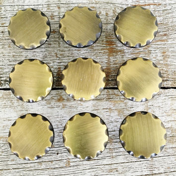 Drawer Knobs 9 Drawer Pulls Brass Drawer Knobs Hollywood Regency Brass Cabinet Knobs Decorative Knobs Mid Century Hardware Dresser Hardware