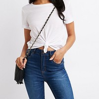 Knotted-Hem Tee | Charlotte Russe
