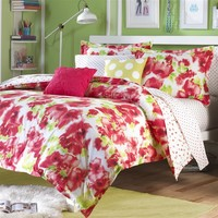 Poppy Red Comforter and Sham Set Twin/Twin XL