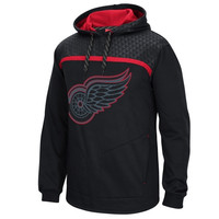 Detroit Red Wings Reebok Cross Check Pullover Hoodie - Black