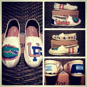 university of florida custom toms vans keds or converse