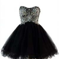 Azaria Style 5369 Black Homecoming Dress