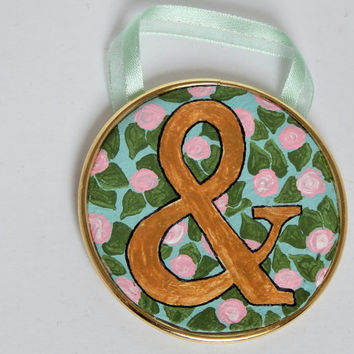 Ampersand Wall Art // Typography // Miniature // Floral // Nerdy Decor