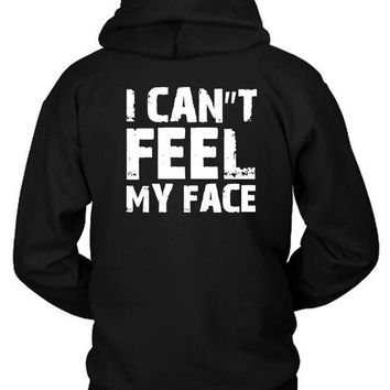 DCCKG72 The Weeknd I Cannot Feel My Face Quote Hoodie Two Sided