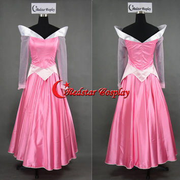 Sleeping Beauty Aurora Princess Cosplay Bell Party Girls Dress - Custom-made in any size