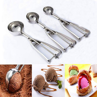 Hot Deal Easy Tools On Sale Home Kitchen Helper Stainless Steel Ice-cream Spoon [11508636495]