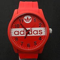 ADIDAS tide brand men and women fashion tape watch F-SBHY-WSL Red