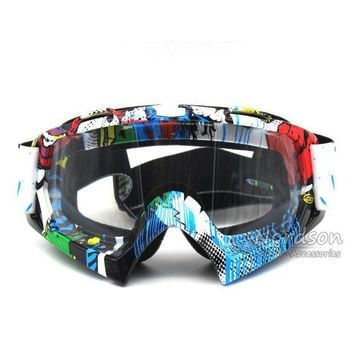 ac NOOW2 New High Quality Transparent Sport Racing Off Road Oculos Lunette Motocross Goggles Glasses For Motorcycle Dirt Bike