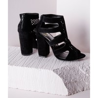 Missguided - Block Heel Gladiator Sandals Black