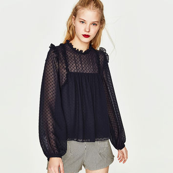 DOTTED MESH TOP DETAILS