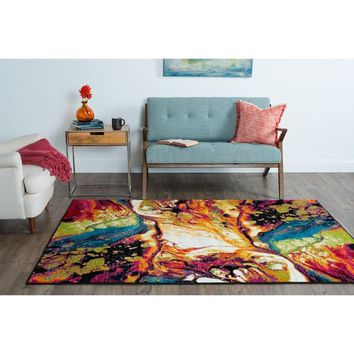 Alise Rhapsody Multi Area Rug (5' x 8') - 5'3 x 7'3 | Overstock.com Shopping - The Best Deals on 5x8 - 6x9 Rugs