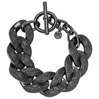 Michael Kors Pave Curb-Chain Bracelet, Black