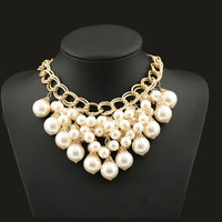 Large Clusters Pearl Bib Necklace