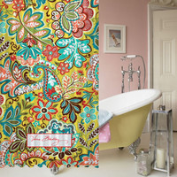 New Vera Bradley Provencal Best Shower Curtain 60 x 72 Waterproof High Quality