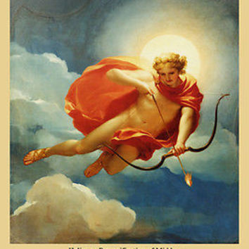 PAINTING OF MIDDAY WITH GREEK GOD HELIOS poster angelic sun arrow 24X36