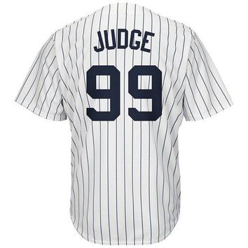 DCCKW7H Mens #99 Aaron_Judge White Jerseys Road Player Stitched Baseball Jersey