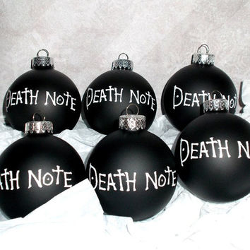 Death Note Anime 6PC Glass Ornament Set