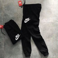 ONETOW Nike Woman Men Black Sports Casual Trousers Pants