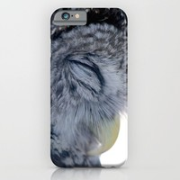 Sleeping Owl iPhone & iPod Case by Veronica Ventress