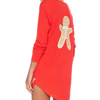 Wildfox Couture Snowed-in Sleep Shirt in Orange