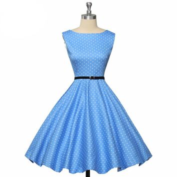 Grace Karin Womens Cocktail Dresses Summer style Floral Print Retro Vintage 50s Casual Party Rockabilly Dress Vestidos Femininos