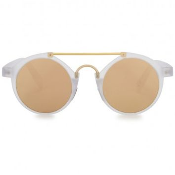 Italia Independent Mirrored round-frame sunglasses