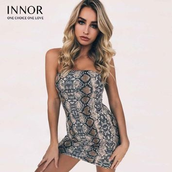 spaghetti straps green snakeskin bodycon sexy mini dress  winter women fashion christmas party dresses innor#273