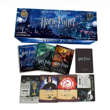 102 PCS/SET Harry Potter English Edition Playing Game Collection Card Toys For Kids Gift Voldemort Hermione  Action Figures