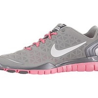 Nike Women's Free TR Fit 2.0 - Metallic Silver / White-Pink Flash, 7 B US